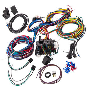 Wiring Harness 21 Circuit Street Hot Rod Universal Wire Kit Gm Color For Ford