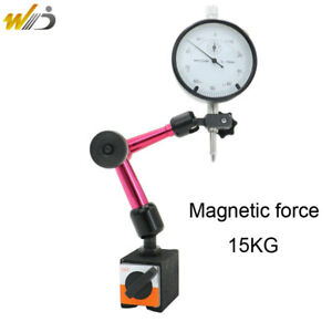 Magnetic Base Holder Stand dial Indicator 0 10 Mm Full Adjustable Dial Gauge