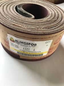Klingspor 5 Pk Sanding Cloth Belts Cs310 4 X 251 new free Shipping