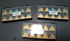 Tpg 542 Cm14 Tracker coated Solid Carbide Inserts lot Of 30pcs New