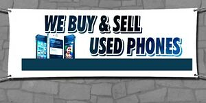We Buy Sell Used Phones Retail Store Business Advertising Banners Signs Flags