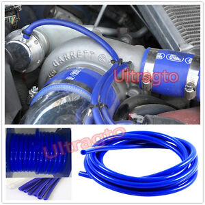 8mm Id Blue Silicone Fuel Boost Air Vacuum Hose Line Pipe Tube By Foot Feet