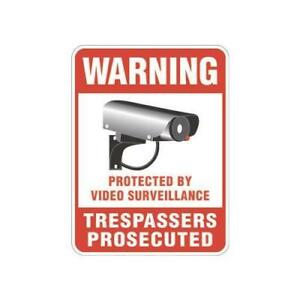 Protected By Video Surveillance Sign Reflective 18 X 24