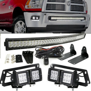 Fit 2010 2018 Dodge Ram 2500 3500 Hidden Bumper Led Bar Fog Light Upgrade Kits