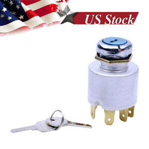 Universal Ignition Switch Lock Cylinder Replacement W 2 Keys For Car Auto Truck