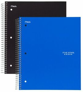 Five Star Spiral Notebooks 3 Subject College Ruled Paper 150 Sheets 11 X 2