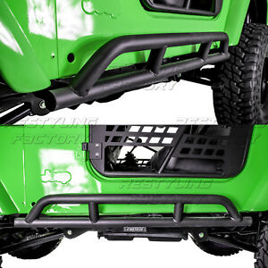 1 Pair Rock Crawler Side Armor Rocker Slider Guard For 97 06 Jeep Wrangler Tj