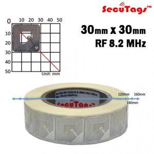 Anti Theft Eas 8 2mhz Checkpoint Clear Square Soft Labels 30x30 20000pcs cs