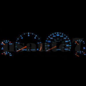 Dash Instrument Cluster Gauge Aqua Blue Led Lights Kit Fit 95 04 Chevy S10 Truck