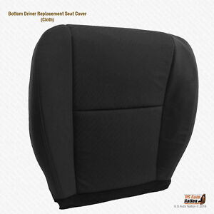 2010 2011 2012 Chevy Avalanche Driver Bottom Cloth Replacement Seat Cover Black