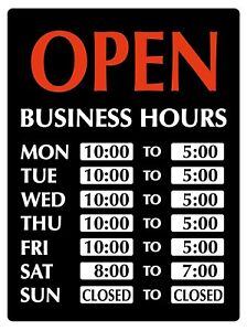 Newon Led Lighted Open Sign With Business Hours 23 4 X 20 4 X 1 2 9442