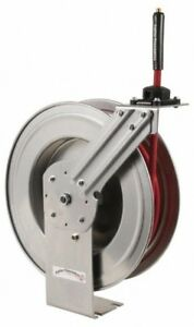 50 Spring Retractable Hose Reel 300 Psi Includes 3 4 Hose