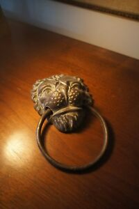 Antique Bronze Lion Mask Door Knocker