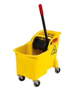 Rubbermaid Commercial Products Tandem Mop Bucket Manual Cleaning Equipment