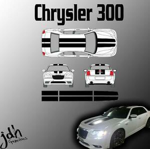 Chrysler 300 Rally Racing Stripes Vinyl Decal Sticker Graphics Kit Car