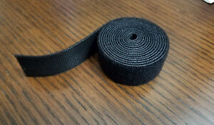 Velcro Brand Reusable One wrap Strap Double Sided Hook Loop 1 X 5ft Black