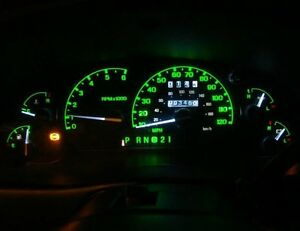 Dash Instrument Cluster Gauge Green Led Light Bulb Kit Fit 99 03 Ford F250 Truck