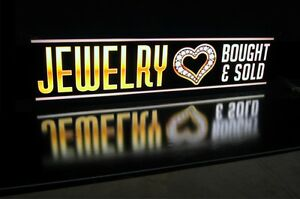 Jewelry Led Signs We Buy Gold Silver Coins Pawn Shop Light Box Neon Alternative