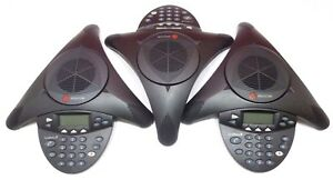 Lot Of 3 Polycom Soundstation 2 Non expandable Conferencing Phone 2201 1600 001