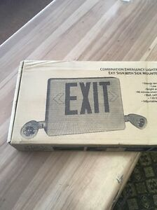 Hubbell Combination Led Exit Emergency Light Hcxurwrc12