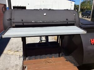 Custom 10 Tow Behind Wood Smoker grill Trailer