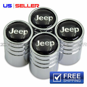 Jeep Valve Stem Caps Wheel Tire Chrome Us Seller Ve16