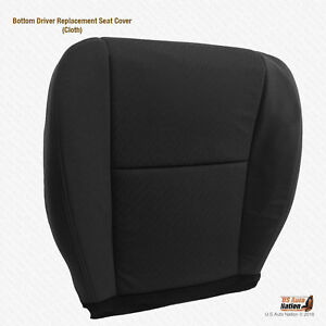2009 2010 Chevy Silverado 1500 Replacement Driver Bottom Cloth Seat Cover Black