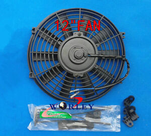 Universal 12 12 Volt 12 Inch Thermo Fan Electric Cooling Fan And Mounting Kits