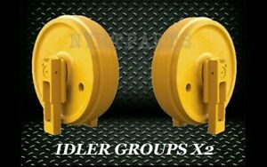 John Deere 450c Idler Gp With Brackets X2 Replacement New Dozer Front