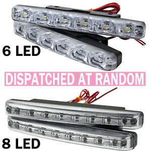2pcs 8 Led Daytime Running Lights Car Driving Drl Fog Lamp Light Super White 12v