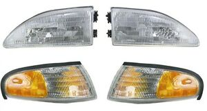 1994 1998 Ford Mustang W O Cobra Headlights And Corner Lamps Lights Combo