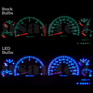 Dash Cluster Gauge Aqua Blue Smd Leds Lights Kit Fits 97 03 Dodge Dakota Durango