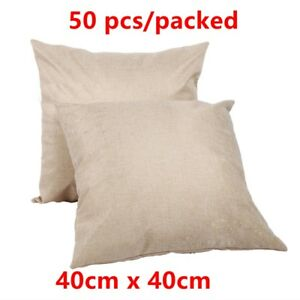 Linen Sublimation Blank Pillow Case Cushion Cover Diy Printing Graphic 40cmx40cm