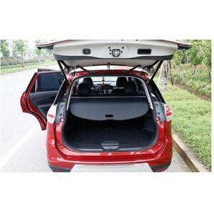 Trunk Cover Cargo Retractable Rear Security Black For Nissan Rogue X trail 2014
