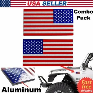 3d Metal American Flag Emblem Sticker Decal For Truck Bike Car