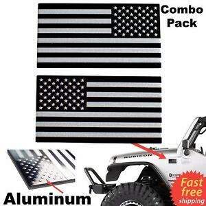 3d Metal American Flag Sticker Decal Mirrored Reverse Car Truck Utv Atv Emblem