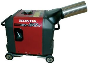 Honda Eu3000is Generator Exhaust System Directs Exhaust Outside Enclosure