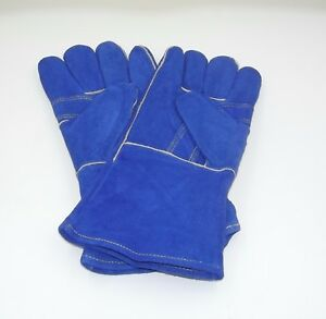 Tillman 1018b Cowhide Leather Stick Welding Gloves Large 09 Blue 6 Pairs