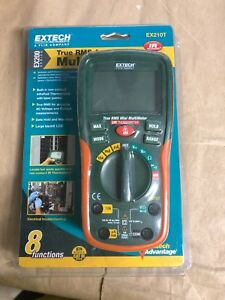 Extech Ex210t True Rms Multimeter With Ir Thermometer Brand New Open Package