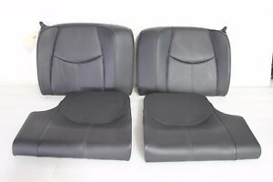 Porsche 911 Carrera 997 Coupe Targa Back Rear Seats Leather Lower Upper Black