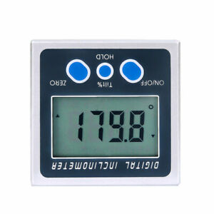 Digital Protractor Angle Finder Inclinometer Bevel Box Magnetic Base
