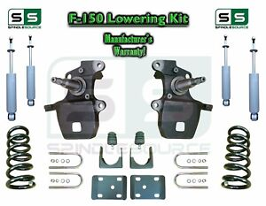 1997 2003 Ford F 150 F150 V6 2wd 4 6 Drop Lowering Kit Coils Axle Shocks