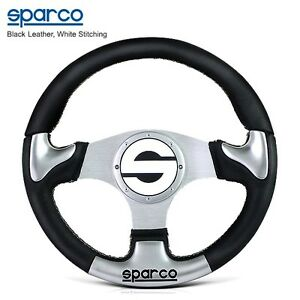 Genuine Sparco 012tr350 350mm Calf Leather Alloy Sport Steering Wheel 6x70mm Pcd