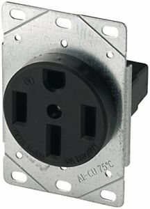 New Eaton 1258 Sp 50 Amp Power Receptacle Free Shipping