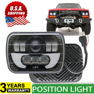 7x6 5x7 120w Led Headlight Halo Drl For 86 95 Jeep Wrangler Yj 84 01 Cherokee Xj