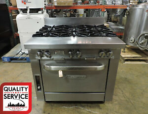 Southbend P36a bbb Commercial 6 burner Range W Convection Oven
