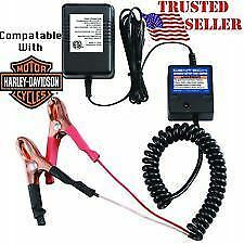 Battery Trickle Charger Automatic Float Tender Super Quick Usa Ship Ez Use Clips