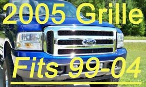 Ford Chrome Grille Conversion 1999 2004 Super Duty 99 04 F250 F350 Free Shiping