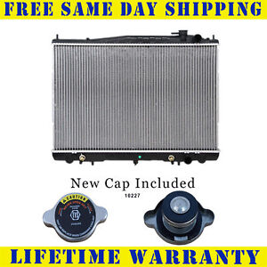 Radiator With Cap For Nissan Fits Xterra Frontier 2 4 3 3 L4 4cyl V6 6cyl 2215wc