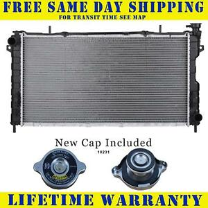 Radiator With Cap For Dodge Chrysler Fits Caravan Town Country Voyager 2311wc
